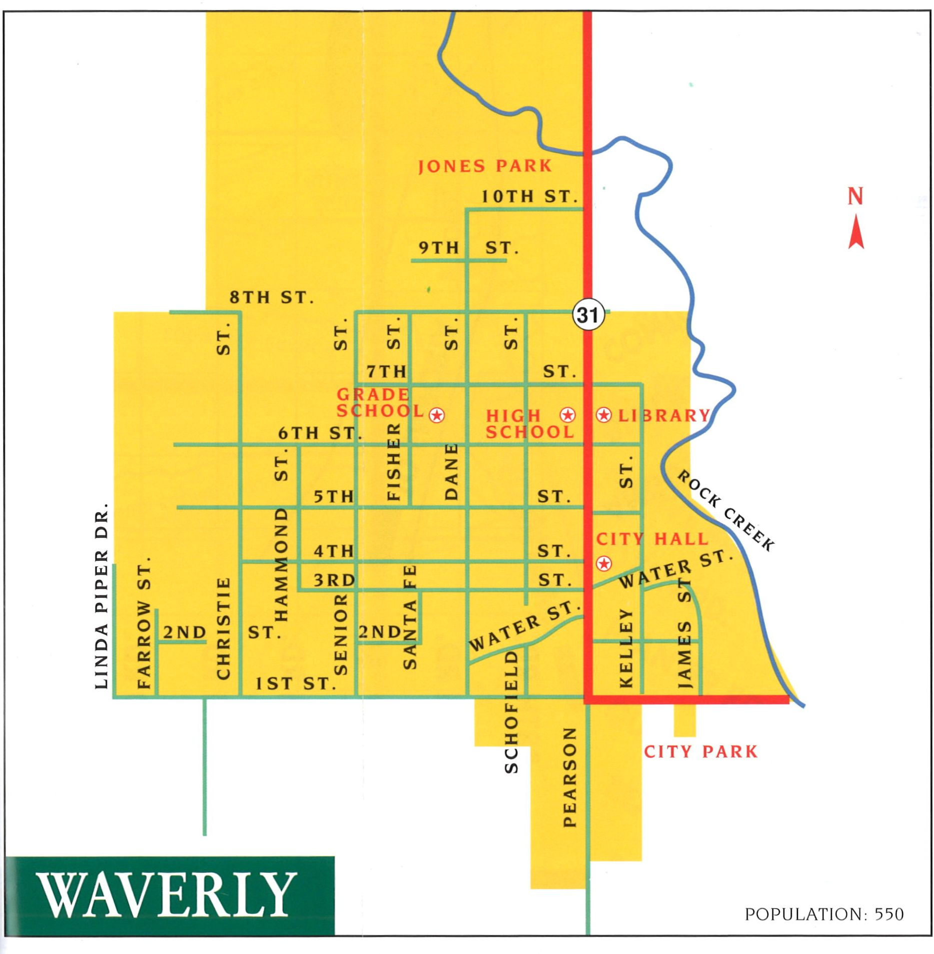Waverly-Map